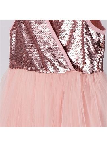 Panço Kız Çocuk Abiye Elbise 2111GK26019 Pembe